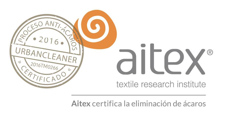 Certificado Aitex servicios antiácaros UrbanCleaner